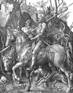 Albrecht Dürer.Ritter und der Teufel