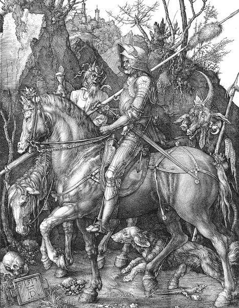 Albrecht Dürer.Ritter und der Teufel von 1000 Schilderijen