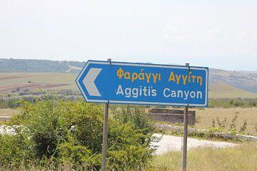 Teken naar Aggitis Canyon / Kloof - Griekenland van ADLER & Co / Caj Kessler