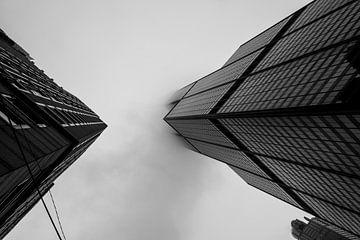Willis Tower in Chicago in de mist van Cathy Janssens