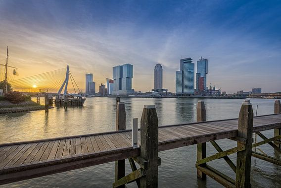 Zonsopkomst Rotterdam van  Mark De Rooij