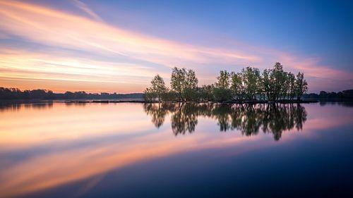 Kralingse plas met zonsopkomst I van Prachtig Rotterdam