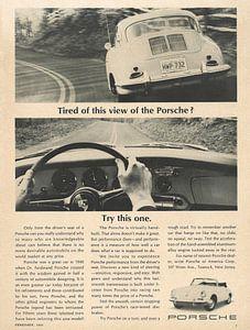 Vintage advertentie 1965 PORSCHE van