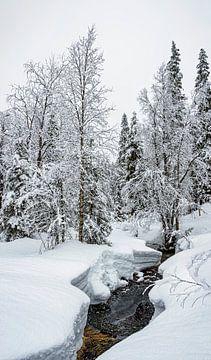 Strom im Eis, Finnland von Rietje Bulthuis
