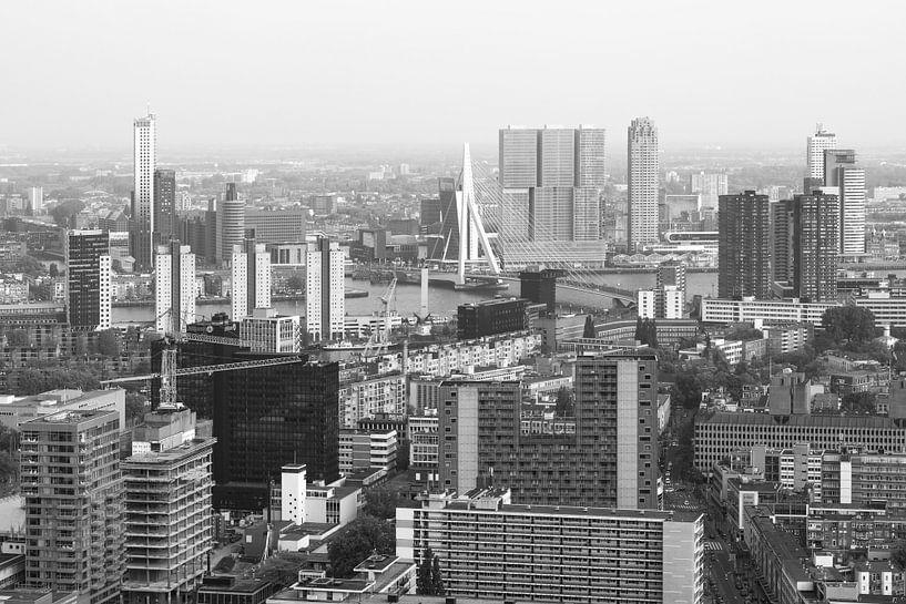 Het stadscentrum van Rotterdam met de Erasmusbrug van MS Fotografie | Marc van der Stelt