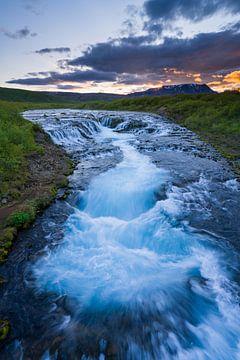 Bruarfoss, IJsland van Joep de Groot
