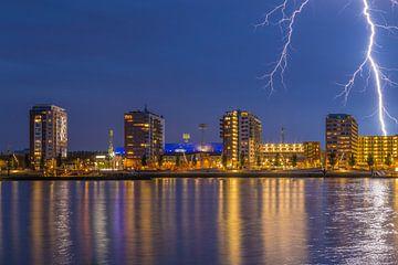 De Kuip met bliksem inslag - Feyenoord Rotterdam (8) van Tux Photography