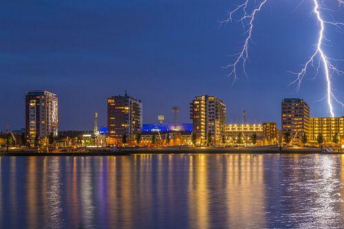 De Kuip met bliksem inslag - Feyenoord Rotterdam (8)