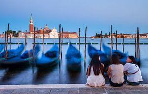Gondels Venetië van Frank Peters