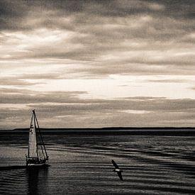 Segelschiff auf dem Wattenmeer von Marlon Mendonça Dias
