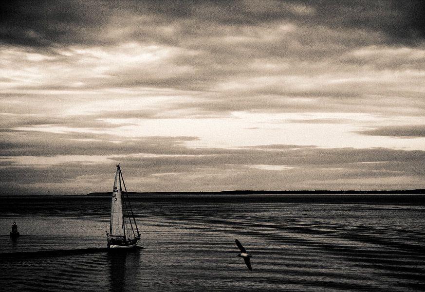 Zeilschip op de waddenzee van Marlon Mendonça Dias