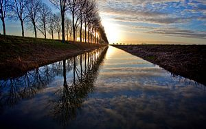 Zonsopkomst in Flevoland van