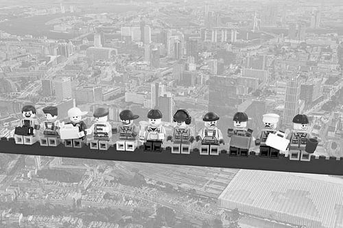 Lunch atop a skyscraper Lego edition - Rotterdam von