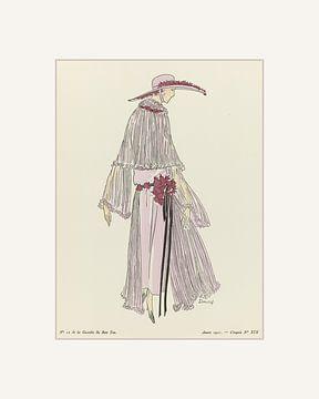 Sommerkleid Art Deco | Ein Triptychon | Sommer, Frühling Pastell und Art Deco Mode Druck | Historisc von NOONY