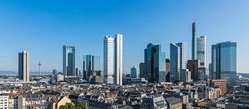 Die Skyline von Frankfurt in Deutschland