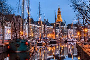 Hoge der A Groningen bei Nacht von Frenk Volt