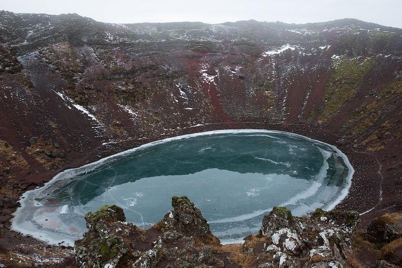 Kerið Krater IJsland van Eriks Photoshop by Erik Heuver