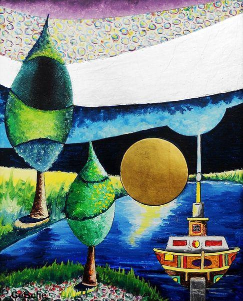 Landschaftsspielerei  von Gertrud Scheffler