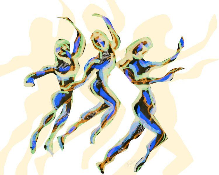 Tribal dance B van Eva van den Hamsvoort