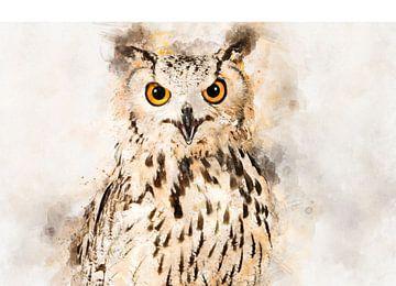 Uhu-Portrait von Elles Rijsdijk