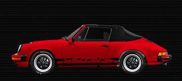 Porsche 911 3.2 Carrera Cabrio in rot von aRi F. Huber