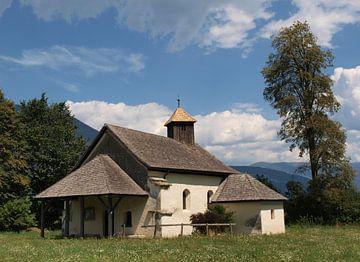 Verlaten kerk, in Drautal, Oostenrijk van Rinke Velds