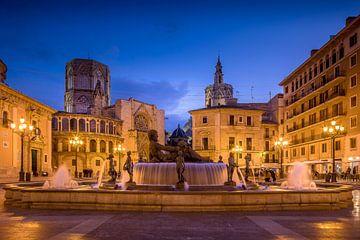 Plaza de la Virgen Valencia Spanien von Elroy Spelbos
