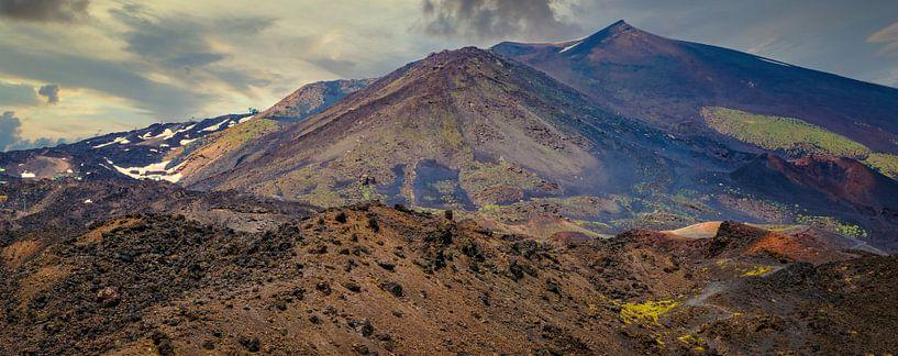 Vulkanisch landschap bij de Etna, Sicilië. van Rietje Bulthuis