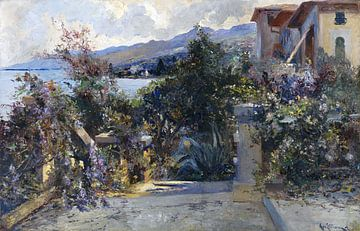 Küstenlandschaft bei Abbazia, LEO VON LITTROW, Um 1890