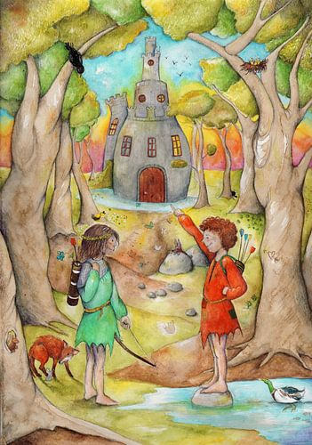 In een sprookjesbos