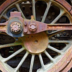 Rad einer Dampflokomotive von Leopold Brix