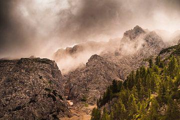 Paysage de montagne mystique en Carinthie
