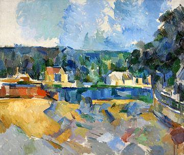 Paul Cézanne, aan de oevers van een rivier - 1905 van Atelier Liesjes