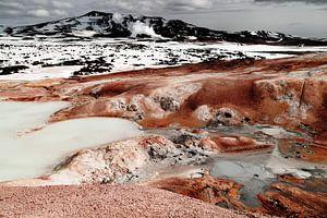 Krafla geothermisch landschap, IJsland van