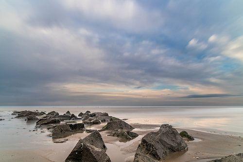 Schitterend Hollands natuurschoon, panoramisch zeeaanzicht en achtergrond van Original Mostert Photography