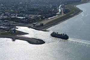 Veerhaven en boot Den Helder-Texel