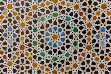 Moschee-Dekorationselement. Fez Marokko, Nordafrika von Tjeerd Kruse