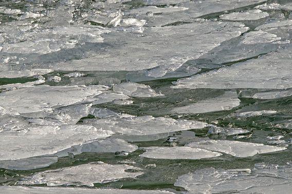 Stukken ijs in beweging