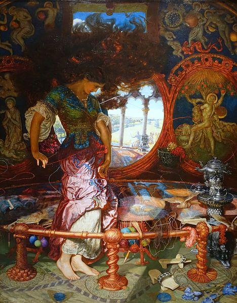 William Holman Hunt. The Lady of Shalott van 1000 Schilderijen