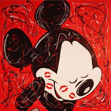 Micky Maus - Küsse von Kathleen Artist Fine Art
