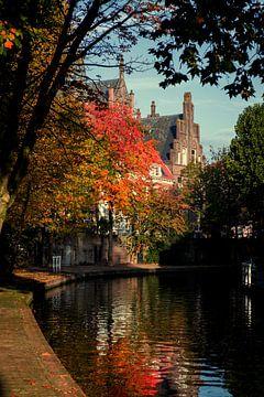 Twijnstraat aan de Oudegracht Utrecht in herfstkleuren (2) van