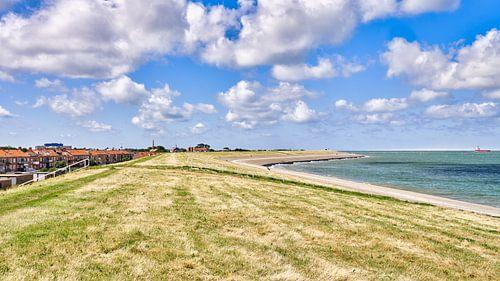 Uitzicht op de dijk bij Den Helder