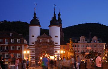 Brugpoort, schemering, oude stad, Heidelberg, oude stad, Heidelberg van Torsten Krüger