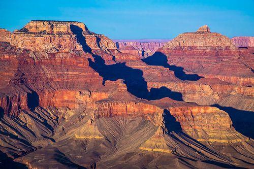 Prachtig avondlicht over de Grand Canyon, VS
