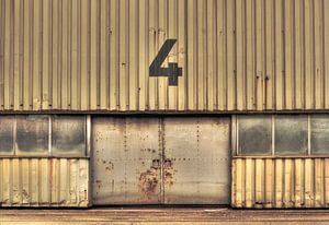 Old steel factory van