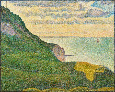 Zeegezicht bij Port-en-Bessin, Normandië, Seurat