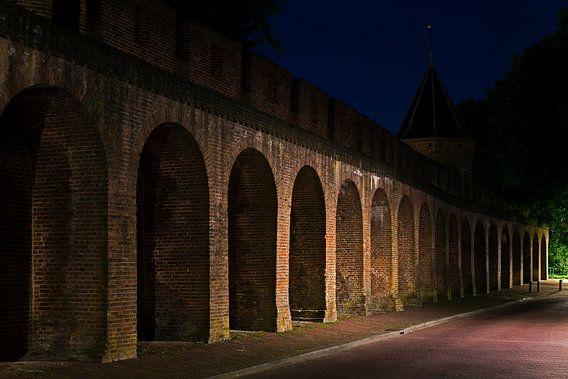 Middeleeuws stadsmuur Amersfoort van Anton de Zeeuw