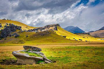 Felsen am Castle Hill, Neuseeland von Rietje Bulthuis