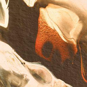 Macrofotografie bruin beige van AJ Art