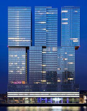 De Rotterdam (OMA) bei Nacht von Vincent van Kooten